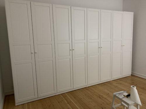 Samling af 236 cm højt og 4 meter bredt IKEA PAX garderobeskab