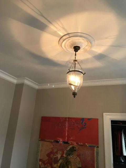 Ophængning & el-tilslutning af antik loftslampe