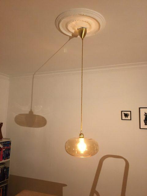 Ophængning & el-tilslutning af loft lampe