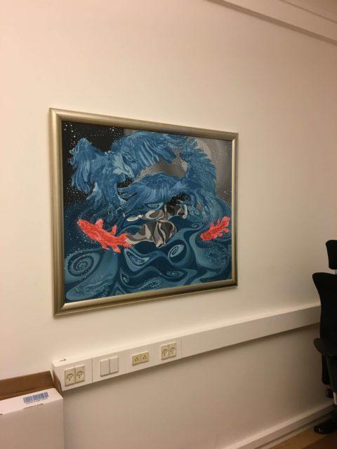 Ophængning af maleri i kontor