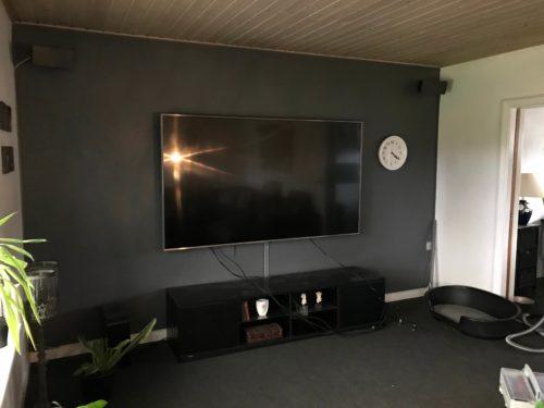 Væg installation montering af LG LED 85 tommer TV