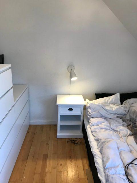 Væg montering IKEA væglampe med kabelskjuler