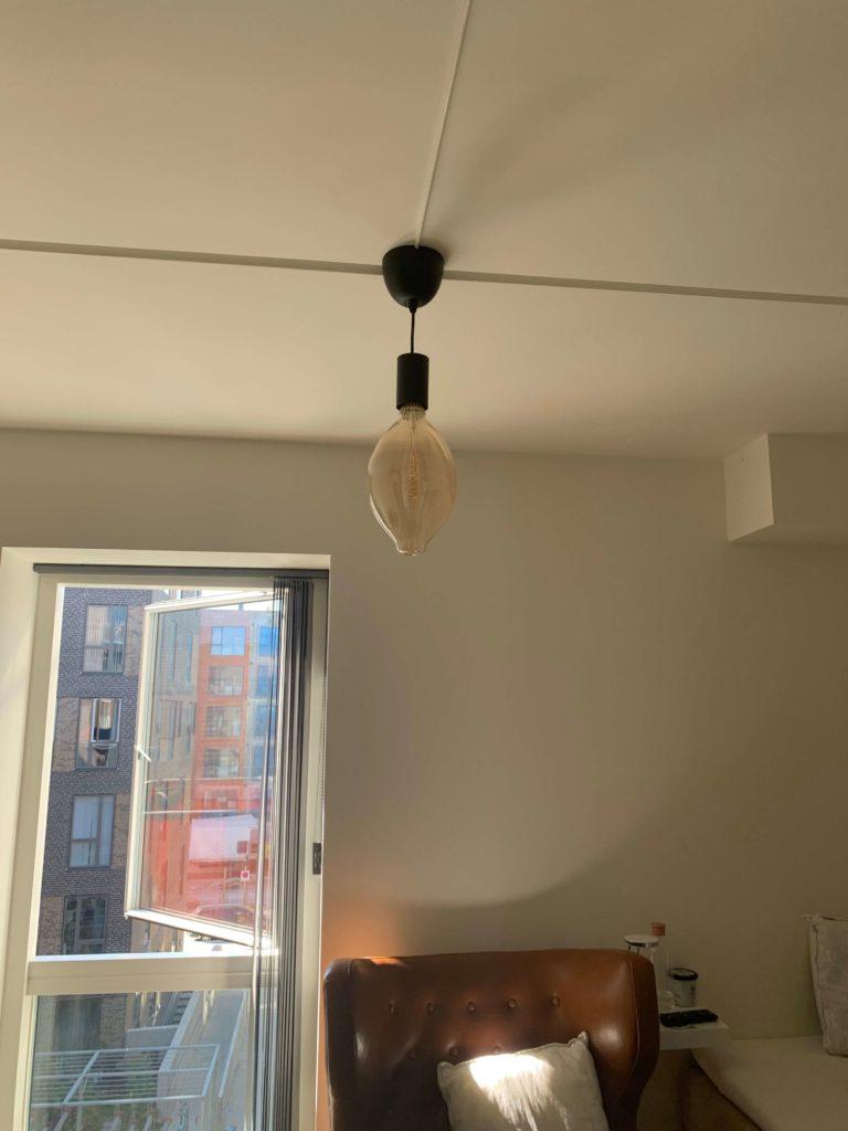 Picture of: Montering Og El Tilslutning Af Ikea Loftlampe Homesetup Dk