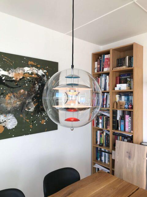 El-tilslutning Verner Panton lampe