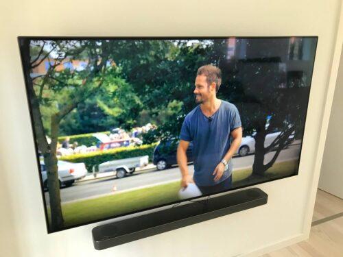 Vægmontering af Samsung TV & soundbar